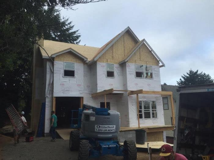 New Construction With Higher Than Normal Roof Elevation