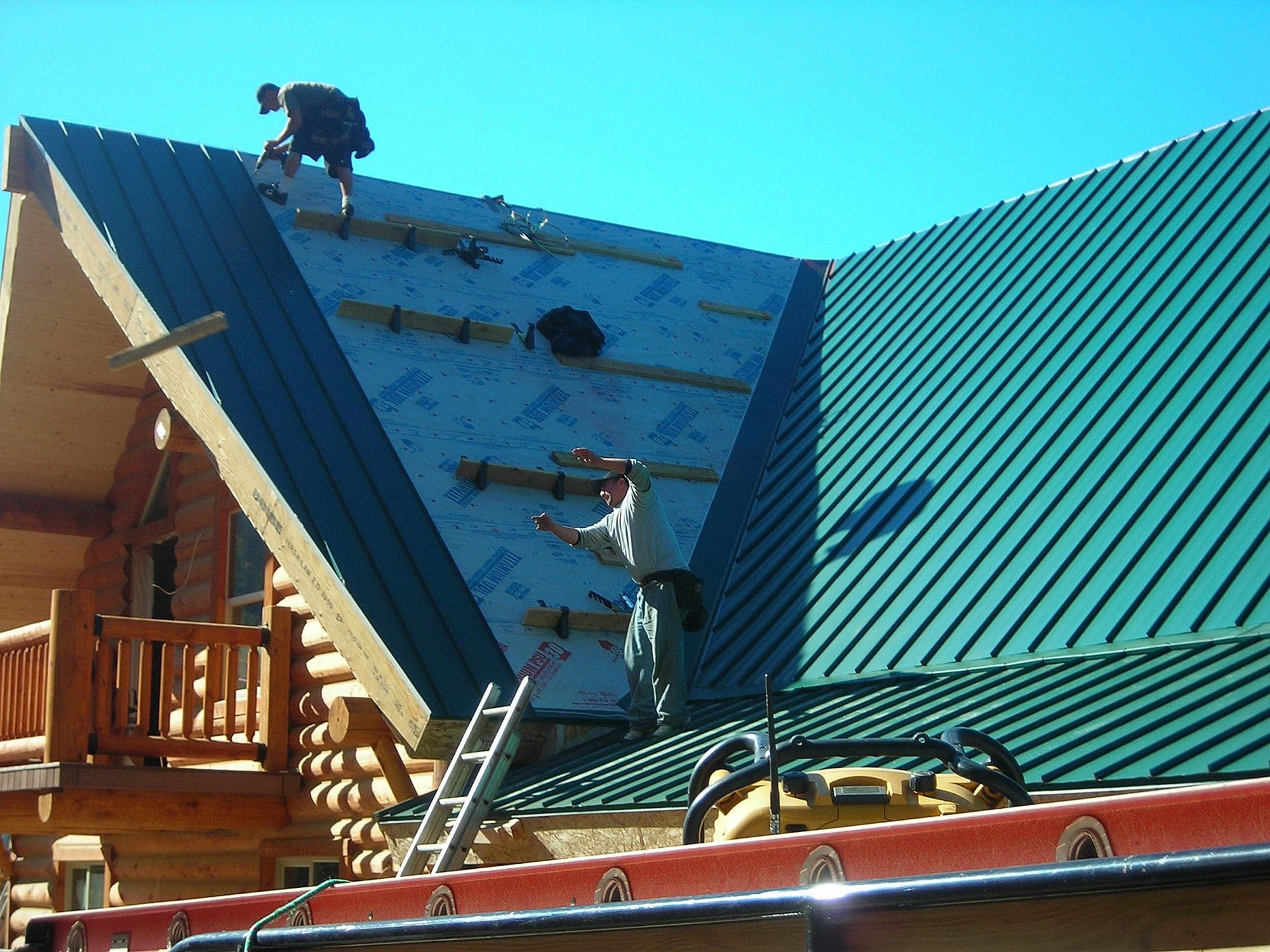 Steep Metal Roof System In Southern Oregon